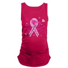 Pink Ribbon with Love Maternity Tank Top