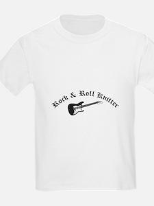 Rock and Roll Knitter Kids T-Shirt