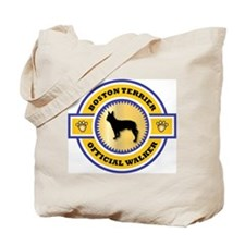 Boston Terrier Walker Tote Bag