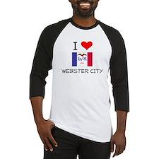 I Love Webster City Iowa Baseball Jersey