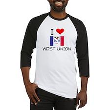 I Love West Union Iowa Baseball Jersey