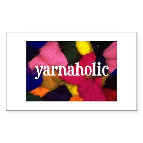 Yarnaholic Rectangle Sticker