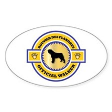 Bouvier Walker Oval Decal