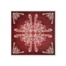 "BURGUNDY Square Sticker 3"" x 3"""