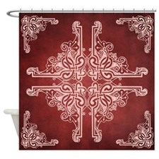 BURGUNDY Shower Curtain