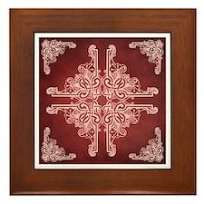 BURGUNDY Framed Tile