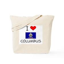 I Love COLUMBUS Kansas Tote Bag