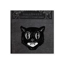 "Halloween Kitty Collage Square Sticker 3"" x 3"""