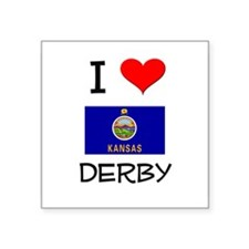 I Love DERBY Kansas Sticker