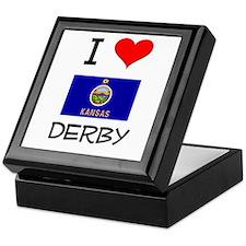 I Love DERBY Kansas Keepsake Box