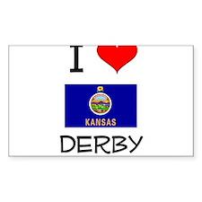 I Love DERBY Kansas Decal