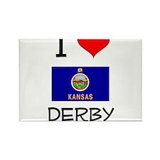 I Love DERBY Kansas Magnets