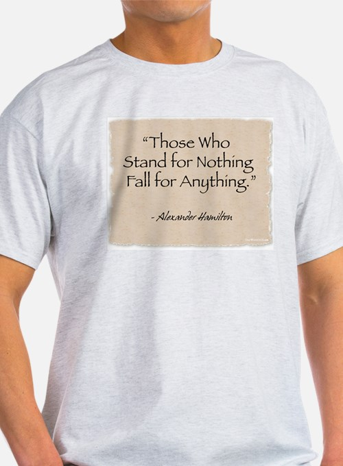 Ash Grey T-Shirt: Fall for Anything