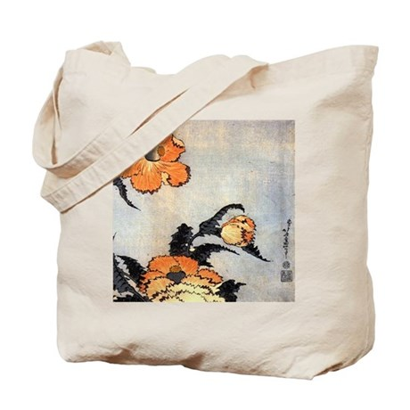 Poppies by Hokusai Tote Bag