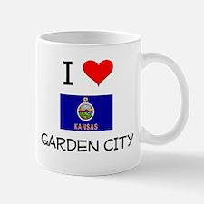 I Love GARDEN CITY Kansas Mugs