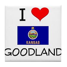 I Love GOODLAND Kansas Tile Coaster