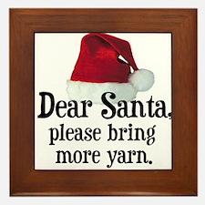 Santa Bring More Yarn Framed Tile