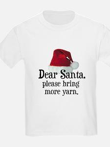 Santa Bring More Yarn Kids T-Shirt
