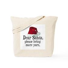 Santa Bring More Yarn Tote Bag