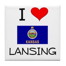 I Love LANSING Kansas Tile Coaster