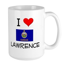 I Love LAWRENCE Kansas Mugs