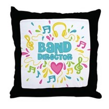 Marching Band Director Throw Pillow