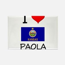 I Love PAOLA Kansas Magnets