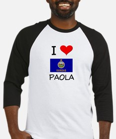 I Love PAOLA Kansas Baseball Jersey