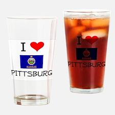 I Love PITTSBURG Kansas Drinking Glass