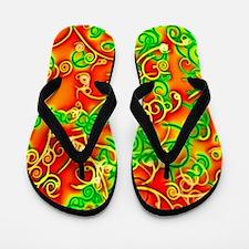 shiny red Flip Flops