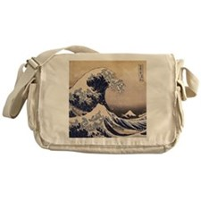 The Great Wave by Hokusai Messenger Bag