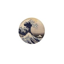 The Great Wave by Hokusai Mini Button