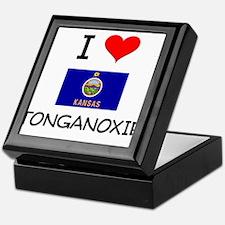 I Love TONGANOXIE Kansas Keepsake Box