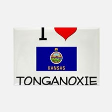 I Love TONGANOXIE Kansas Magnets