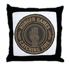 Hunger Games Catching Fire Hand Sign Throw Pillow
