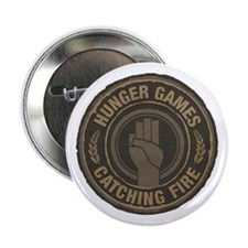 """Hunger Games Catching Fire Hand Sign 2.25"""" Button"""