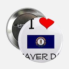 """I Love BEAVER DAM Kentucky 2.25"""" Button"""