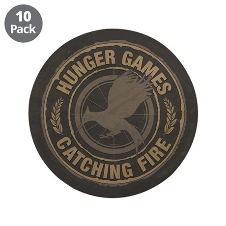 """Catching Fire MockingJay Logo 3.5"""" Button (10 pack"""