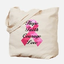 Pink Camouflage Ribbon Tote Bag