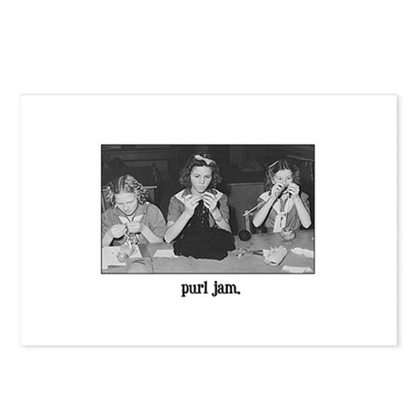 Knitting - Purl Jam Postcards (Package of 8)
