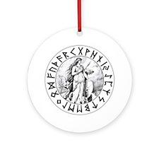 Freya Shield Ornament (Round)