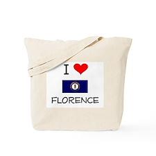 I Love FLORENCE Kentucky Tote Bag