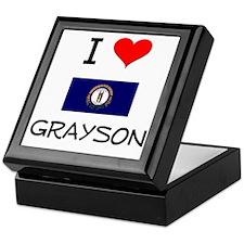 I Love GRAYSON Kentucky Keepsake Box