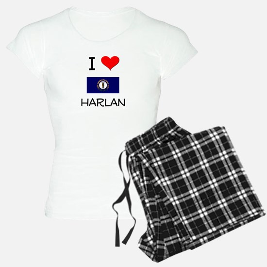 I Love HARLAN Kentucky Pajamas