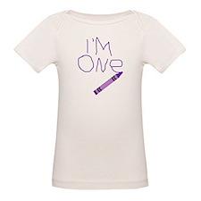 Im One Purple Crayon Writing T-Shirt