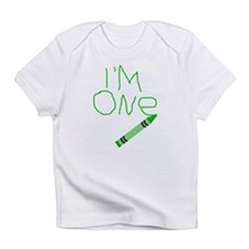 Im One Green Crayon Writing Infant T-Shirt