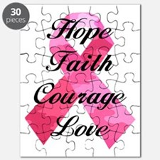 Pink Camouflage Ribbon Puzzle