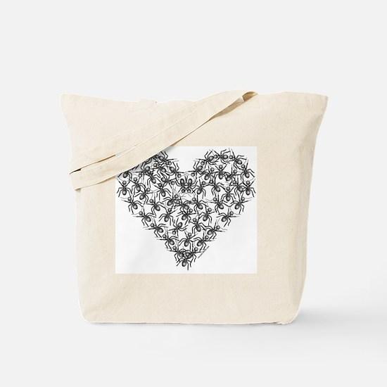 Black Ants Heart Tote Bag