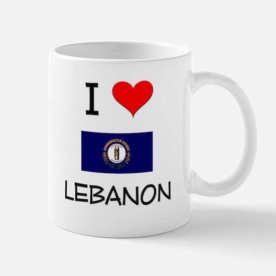 I Love LEBANON Kentucky Mugs