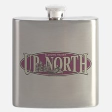 Up North Nortwoods Snowmobiler Flask